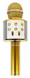 Золотой микрофон караоке - динамик с эффектами изменения голоса WS-858
