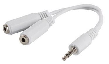 Lanberg Adapter Mini Jack x2 / Mini Jack White 0.1m