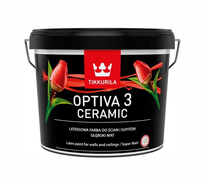 Vandeniniai akriliniai dažai Tikkurila Optiva Ceramic 3 BA, balti, 2.7 l