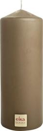 Eika Pillar Candle 16x6cm Brown