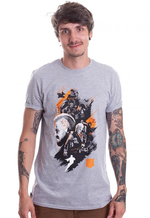 Футболка Licenced Call Of Duty Black Ops 4 Characters Montage T-Shirt Grey L