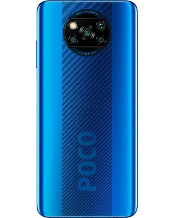 Mobilusis telefonas Xiaomi Poco X3 NFC, mėlynas, 6GB/128GB