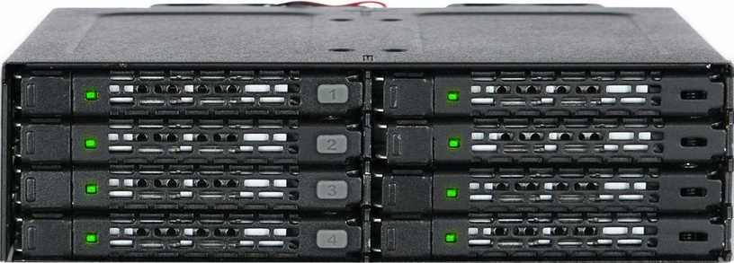 "Icy Dock ToughArmor MB998IP-B 8x2.5"" SAS / SATA To Mini-SAS Backplane"