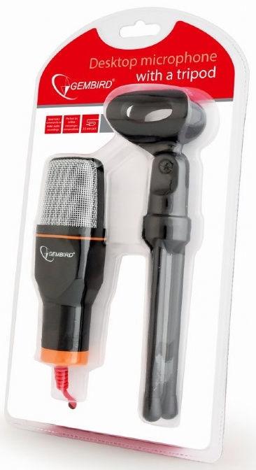Микрофон Gembird Desktop Microphone w/Tripod Black