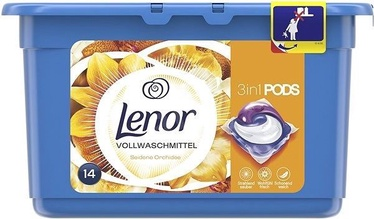 Lenor Liquid Tabs Silk Orchid 14pcs