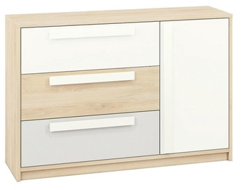 ML Meble Drop 08 Chest Of Drawers Beech/White/Light Gray