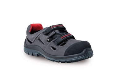 Albashoes Men's Slim Leather Sandals F08 S1P Grey 46