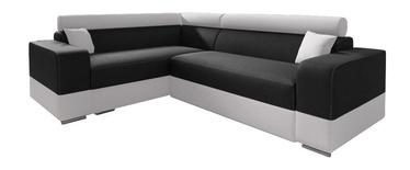 Stūra dīvāns Idzczak Meble Infinity Mini Black/White, 256 x 186 x 93 cm