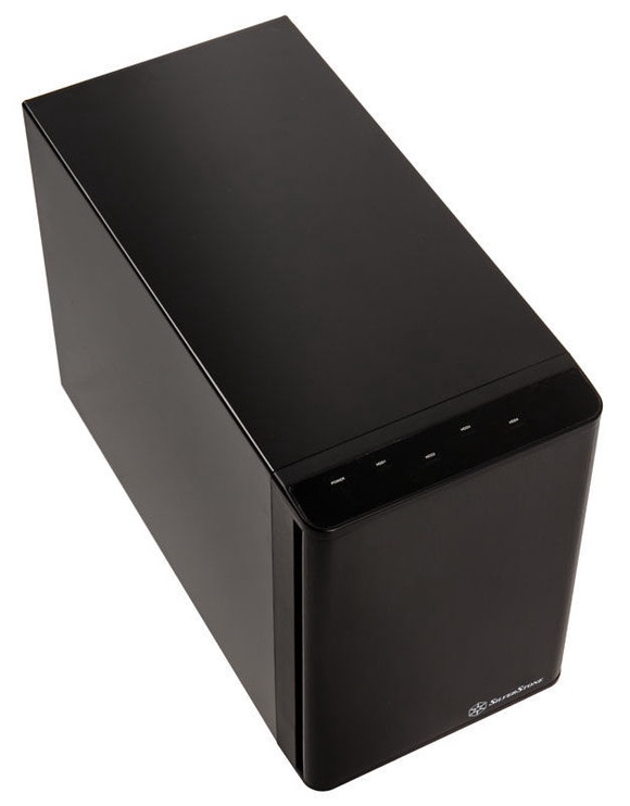 "SilverStone External Enclosure SST-TS431U-V2 4 Bay 3.5"" HDD Black"