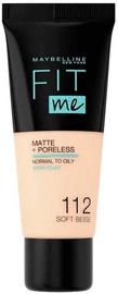 Крем пудра Maybelline Fit Me! Foundation Matte & Poreless 112 Soft Beige, 30 мл
