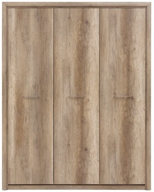 Black Red White Koen 2 Wardrobe 163x208cm Monument Oak