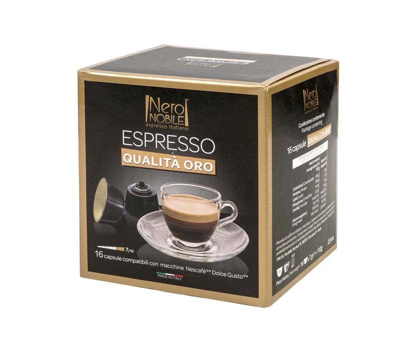 Kavos kapsulės Neronobile Oro Di Napoli, 16 vnt.