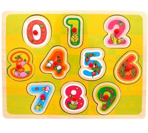 Brimarex Wooden Puzle Numbers 10pcs 4719