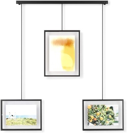 Umbra Exhibit Wall Picture Frames Set of 3 Black