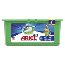 Skalbimo kapsulės Ariel Active Deo-Fresh, 25 vnt.