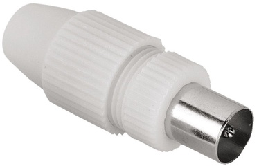 Hama Coaxial Antenna Connector White