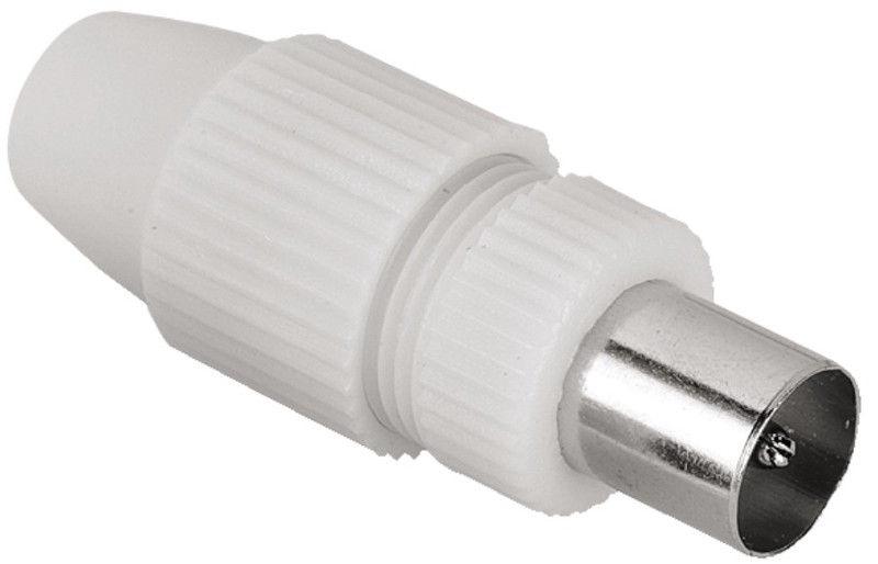 Hama Coaxial Antenna Connector White