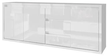 Kumode Tuckano Glance, balta, 180x40x78 cm