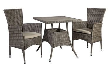 Home4you Paloma Table And 2 Chairs Set Brown