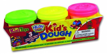 Kids Toys Kids Dough Neon Colour 3x140g