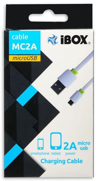 iBOX Cable USB to USB-micro White 1m