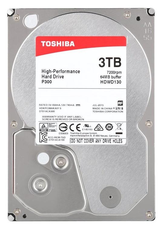 Toshiba P300 3TB 7200RPM SATA III 64MB HDWD130EZSTA