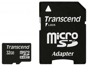 Transcend 32GB Micro SDHC Class 4 + Adapter