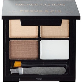 Makeup Revolution London Focus & Fix Eyebrow Shaping Kit 5.8g Light - Medium