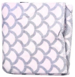 Womar Baby Blanket With Ornaments 75x100cm Pink/Grey