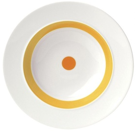 "ViceVersa Soup Plate ""The Dot"" 23.5cm Yellow"