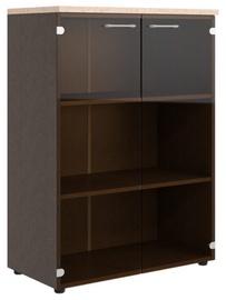 Skyland Xten XMC 85.2 Office Cabinet w/ Glass Door Tiara Beech/Legno Dark