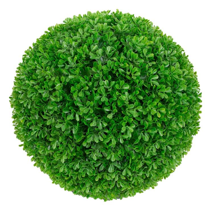 Искусственные цветы в вазоне Home4you Boxwood 87444, черный/зеленый