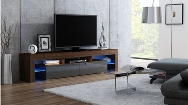 TV galds Pro Meble Milano 200 With Light Walnut/Grey, 2000x350x450 mm