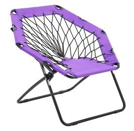 Halmar Widget Folding Garden Chair Purple