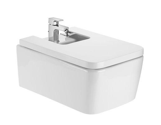 Roca Inspira Square Vitreous 370x560mm Bidet White