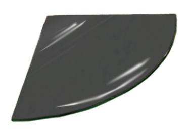 Kampinė lentynėlė Stiklita l6tp14/20, 20 x 20 x 0,6 cm