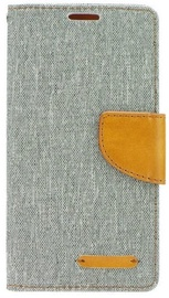 Mocco Canvas Book Case For Samsung Galaxy S6 Gray