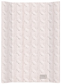 Ceba Baby Changing Mat Pastel Collection Cable Stitch Pink
