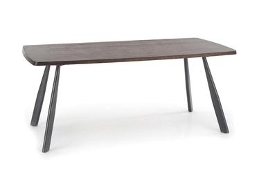 Pusdienu galds Halmar Firmino Dark Walnut/Graphite, 1800x900x760 mm