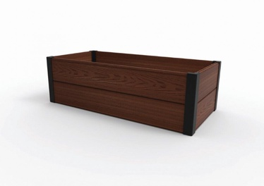 Keter Maple Through Border For Flower Bed 106x32x50cm Brown