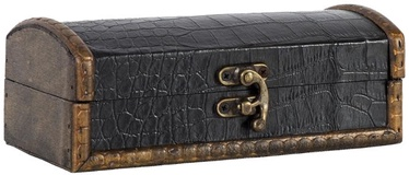 Home4you Chest BAO 18x8.5xH6.5cm Snakeskin Black
