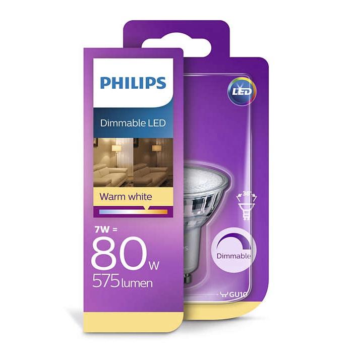 Valgusdioodlamp Philips PAR16 7W GU10 LED