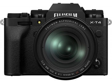 Fujifilm X-T4 Mirrorless Camera Black + Fujifilm XF 16-80mm f/4 R OIS WR