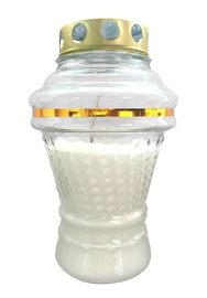 SN Tomb Candle 19cm White