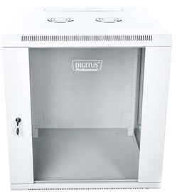 "Digitus Wallmount Cabinet 19"" 12U/600mm Grey Unmounted"