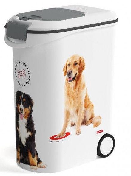 Curver Food Keeper On Wheels Love Pets Dogs 20kg 54L