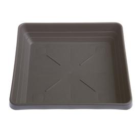 Plastia Pot Plate Lotos 25x25cm Brown