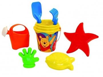 Smilšu kastes rotaļlietu komplekts Winnie The Pooh, daudzkrāsains, 8 gab.