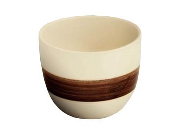 Puķu pods, keramikas 9x14cm, brūns