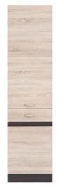 Black Red White Kitchen Bottom Cabinet Right Junona Line D2D/50/195P Wenge Oak/Sonoma Oak